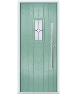 The Zetland Composite Door in Green (Chartwell) with Classic Glazing