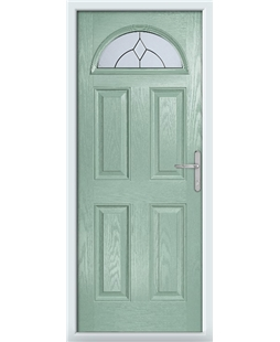 The Derby Composite Door in Green (Chartwell) with Classic Glazing