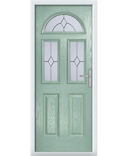 The Glasgow Composite Door in Green (Chartwell) with Classic Glazing