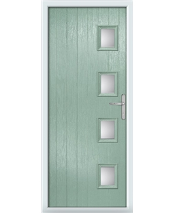 The Preston Composite Door in Green (Chartwell) with Clear