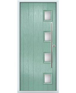 The Norwich Composite Door in Green (Chartwell) with Glazing