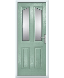 The Birmingham Composite Door in Green (Chartwell) with Clear Glazing