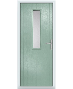 The Sheffield Composite Door in Green (Chartwell) with Clear Glazing