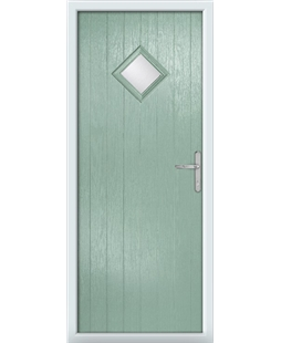 The Reading Composite Door in Green (Chartwell) with Clear Glazing