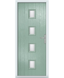 The Uttoxeter Composite Door in Green (Chartwell) with Clear Glazing