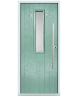 The York Composite Door in Green (Chartwell) with Clear Glazed
