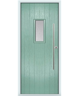 The Zetland Composite Door in Green (Chartwell) with Clear Glazing