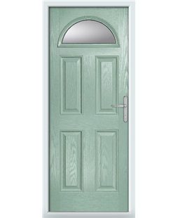 The Derby Composite Door in Green (Chartwell) with Clear Glazing