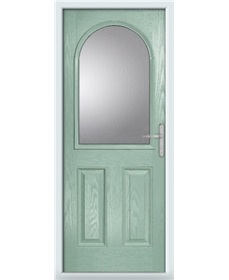 The Edinburgh Composite Door in Green (Chartwell) with Clear Glazing