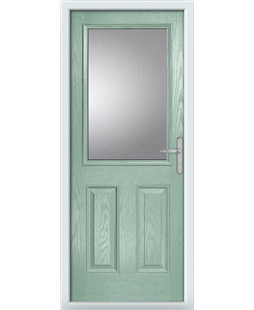 The Farnborough Composite Door in Green (Chartwell) with Clear Glazing