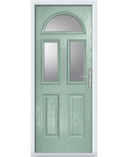 The Glasgow Composite Door in Green (Chartwell) with Clear Glazing