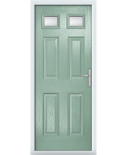 The Ipswich Composite Door in Green (Chartwell) with Clear Glazing