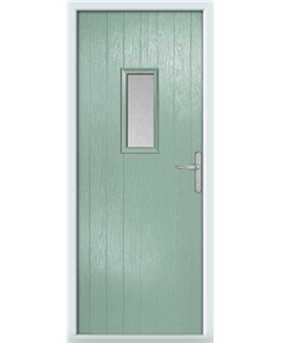 The Taunton Composite Door in Green (Chartwell) with Clear Glazing