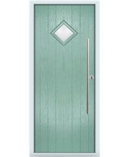 The Wolverhampton Composite Door in Green (Chartwell) with Clear Glazing