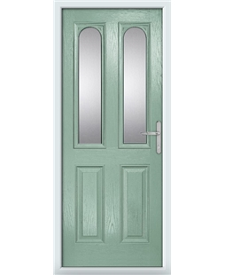 The Aberdeen Composite Door in Green (Chartwell) with Glazing