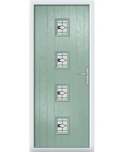 The Uttoxeter Composite Door in Green (Chartwell) with Barcelona Green
