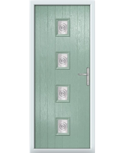 The Uttoxeter Composite Door in Green (Chartwell) with Bullion