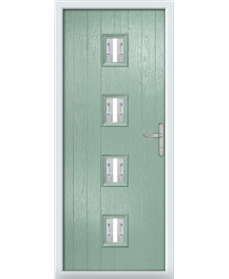 The Uttoxeter Composite Door in Green (Chartwell) with Milan