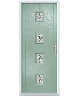 The Uttoxeter Composite Door in Green (Chartwell) with Daventry Black