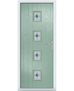 The Uttoxeter Composite Door in Green (Chartwell) with Daventry Blue