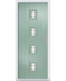 The Uttoxeter Composite Door in Green (Chartwell) with Tate