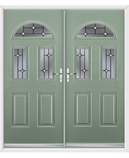 Tennessee French Rockdoor in Chartwell Green with Crystal Bevel