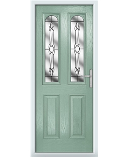 The Aberdeen Composite Door in Green (Chartwell) with Crystal Bohemia