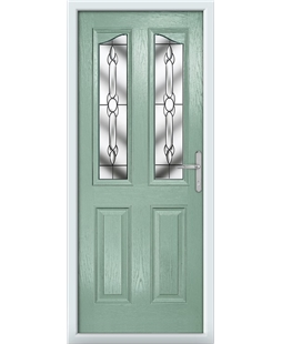 The Birmingham Composite Door in Green (Chartwell) with Crystal Bohemia