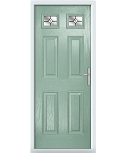 The Ipswich Composite Door in Green (Chartwell) with Crystal Bohemia