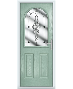 The Edinburgh Composite Door in Green (Chartwell) with Black Crystal Bohemia