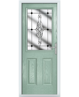 The Farnborough Composite Door in Green (Chartwell) with Black Crystal Bohemia