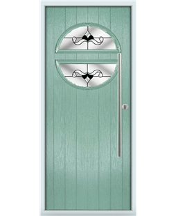 The Xenia Composite Door in Green (Chartwell) with Black Crystal Bohemia