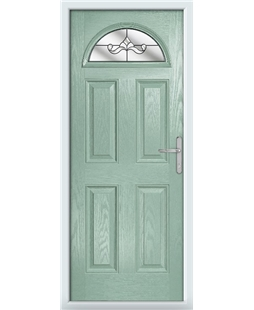 The Derby Composite Door in Green (Chartwell) with Clear Crystal Bohemia