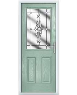 The Farnborough Composite Door in Green (Chartwell) with Clear Crystal Bohemia
