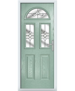 The Glasgow Composite Door in Green (Chartwell) with Clear Crystal Bohemia
