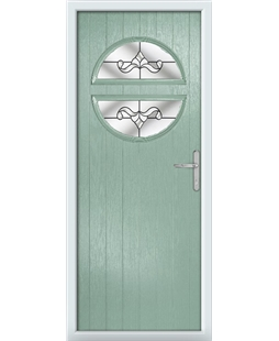 The Queensbury Composite Door in Green (Chartwell) with Clear Crystal Bohemia