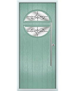 The Xenia Composite Door in Green (Chartwell) with Clear Crystal Bohemia