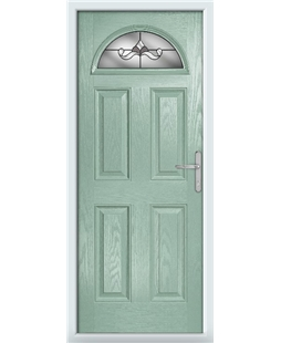 The Derby Composite Door in Green (Chartwell) with Crystal Bohemia Frost