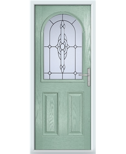 The Edinburgh Composite Door in Green (Chartwell) with Crystal Bohemia Frost