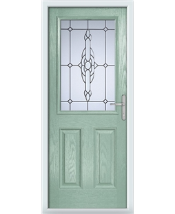 The Farnborough Composite Door in Green (Chartwell) with Crystal Bohemia Frost