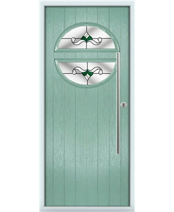 The Xenia Composite Door in Green (Chartwell) with Green Crystal Bohemia