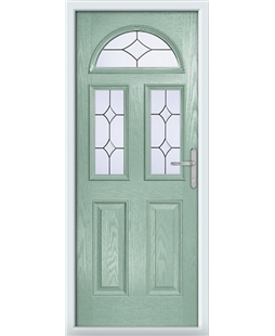 The Glasgow Composite Door in Green (Chartwell) with Crystal Diamond