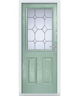 The Farnborough Composite Door in Green (Chartwell) with Crystal Diamond