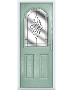 The Edinburgh Composite Door in Green (Chartwell) with Crystal Eternity