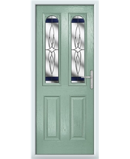The Aberdeen Composite Door in Green (Chartwell) with Blue Crystal Harmony