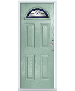 The Derby Composite Door in Green (Chartwell) with Blue Crystal Harmony
