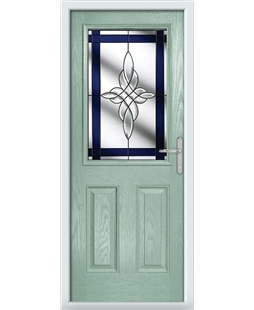 The Farnborough Composite Door in Green (Chartwell) with Blue Crystal Harmony