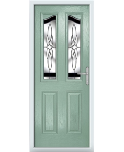 The Birmingham Composite Door in Green (Chartwell) with Black Crystal Harmony