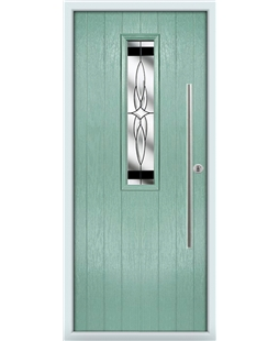 The York Composite Door in Green (Chartwell) with Black Crystal Harmony
