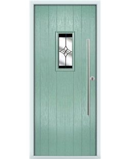 The Zetland Composite Door in Green (Chartwell) with Black Crystal Harmony